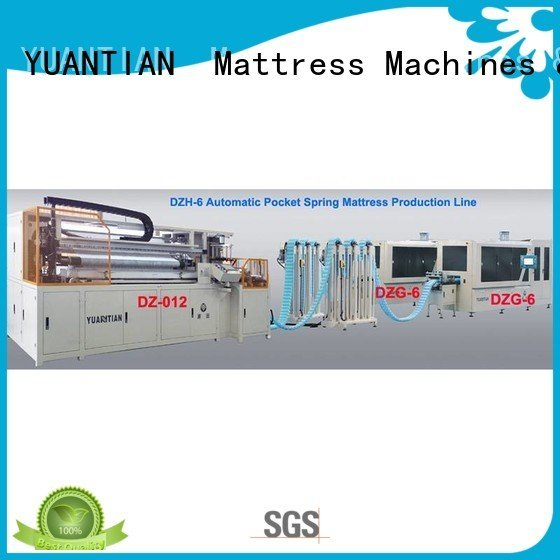 high coiling YUANTIAN Mattress Machines Automatic High Speed Pocket Spring Machine
