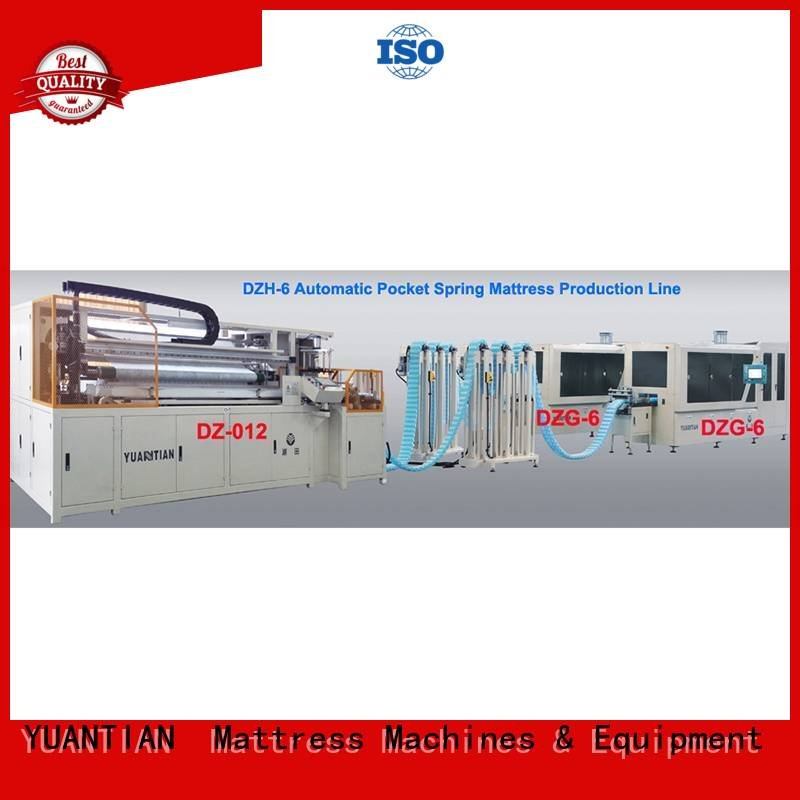 Custom Automatic High Speed Pocket Spring Machine pocket dt012 dzg1a YUANTIAN Mattress Machines